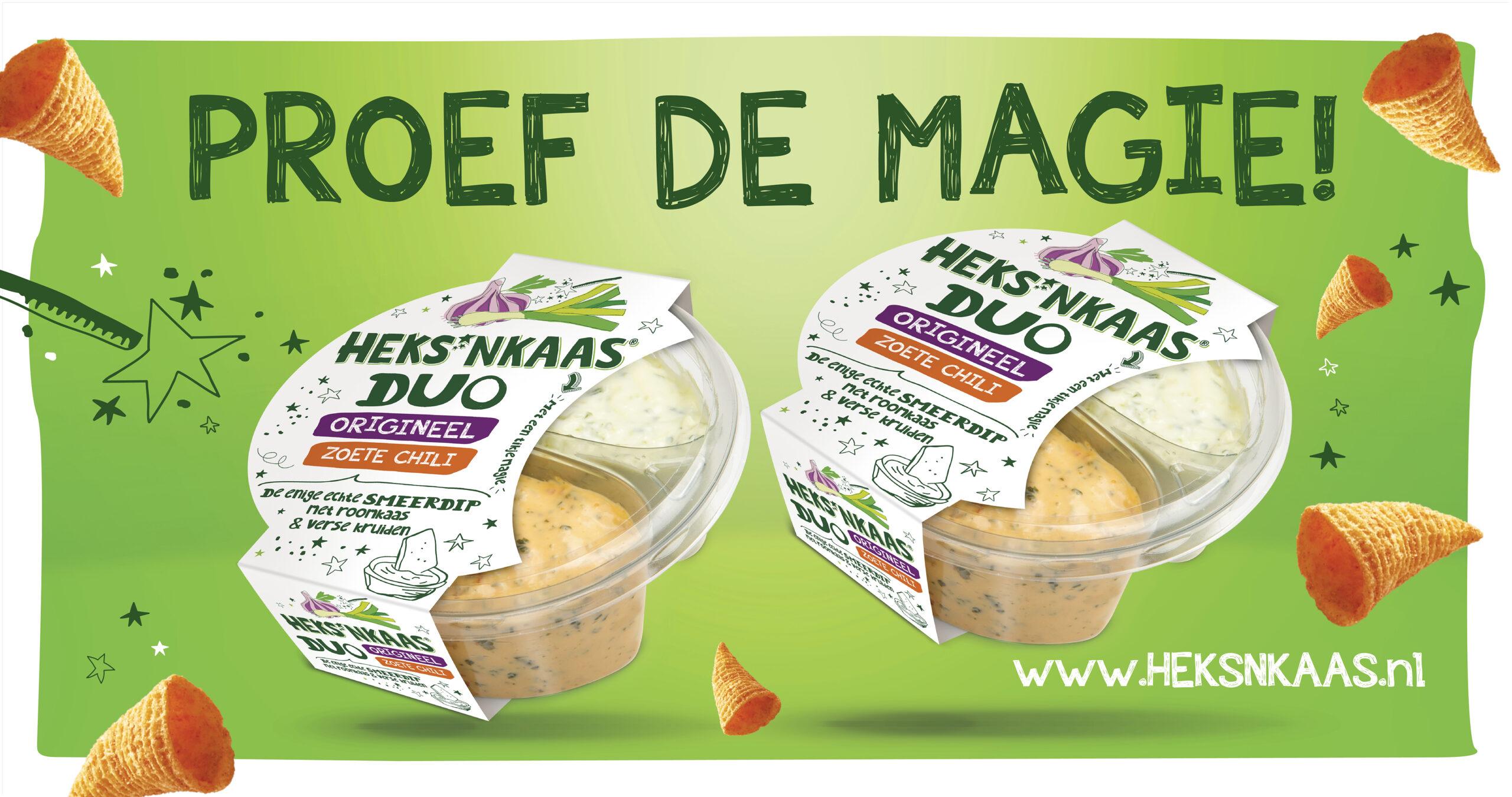*Nieuw! Duo verpakking HEKS'NKAAS®Origineel met HEKS'NKAAS®Zoete Chili
