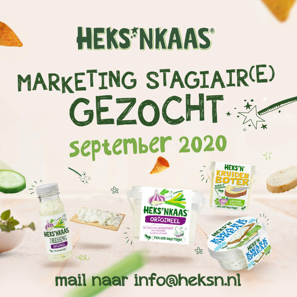 *Marketing stagiair(e) gezocht september 2020